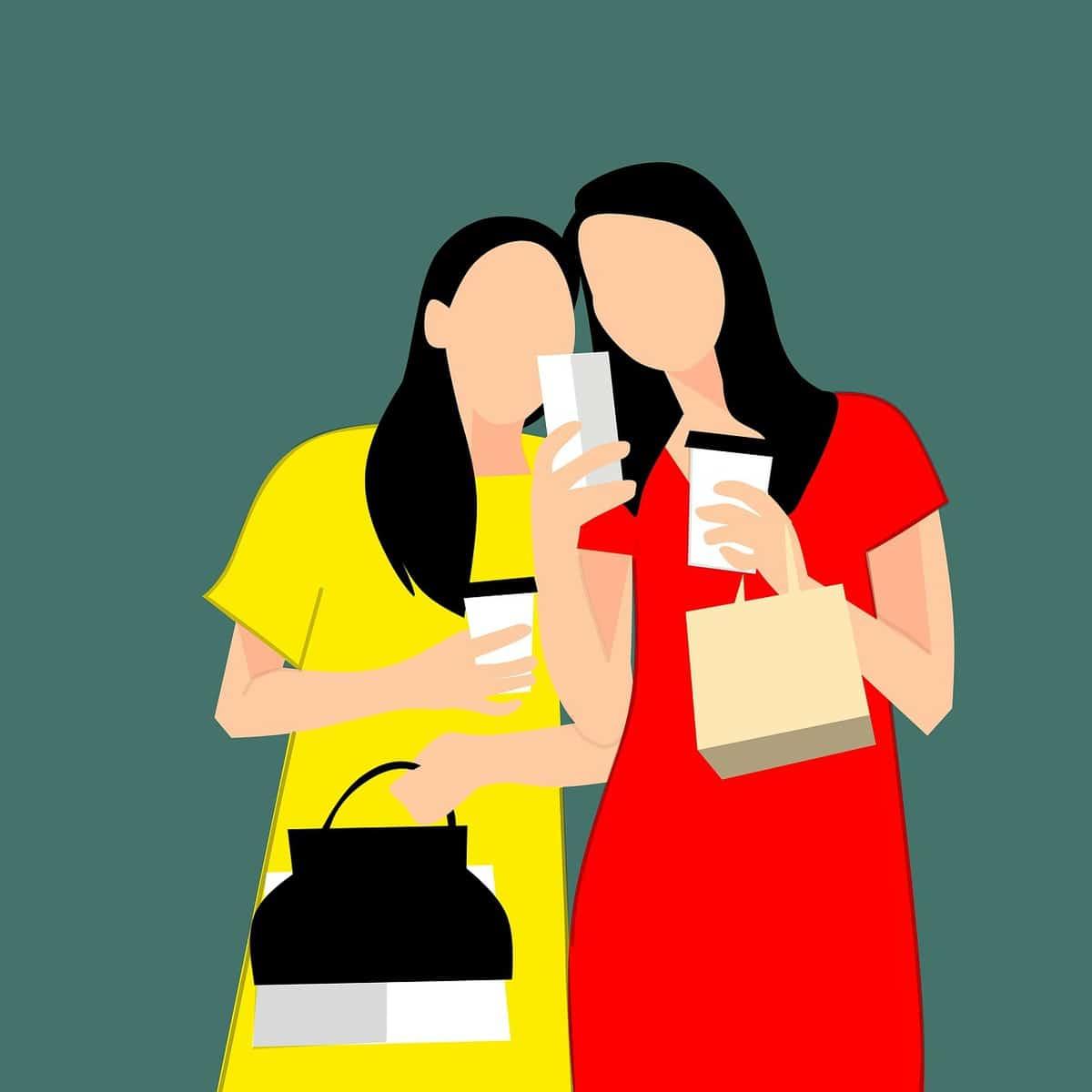 נשים עושות קניות